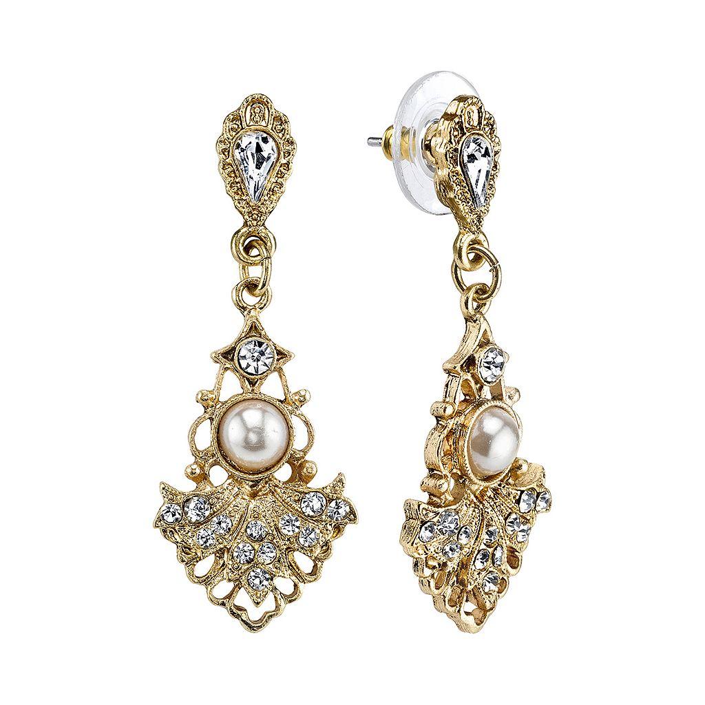 Downton Abbey® Openwork Fan Drop Earrings