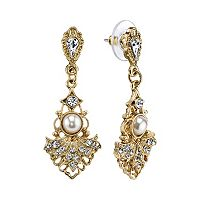 Downton Abbey® Openwork Fan Drop Earrings