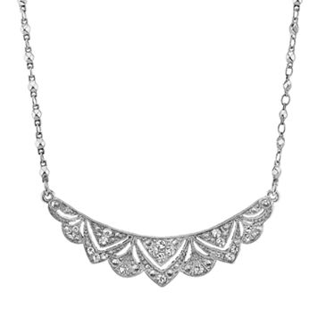 Downton Abbey® Scalloped Bib Necklace