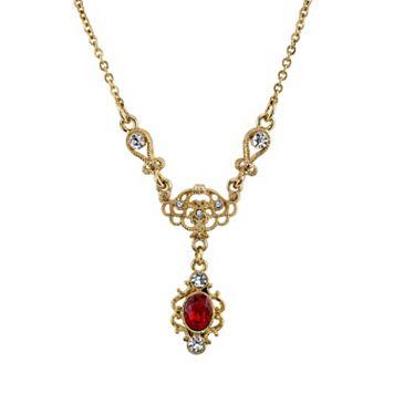 Downton Abbey® Scrollwork Y Necklace