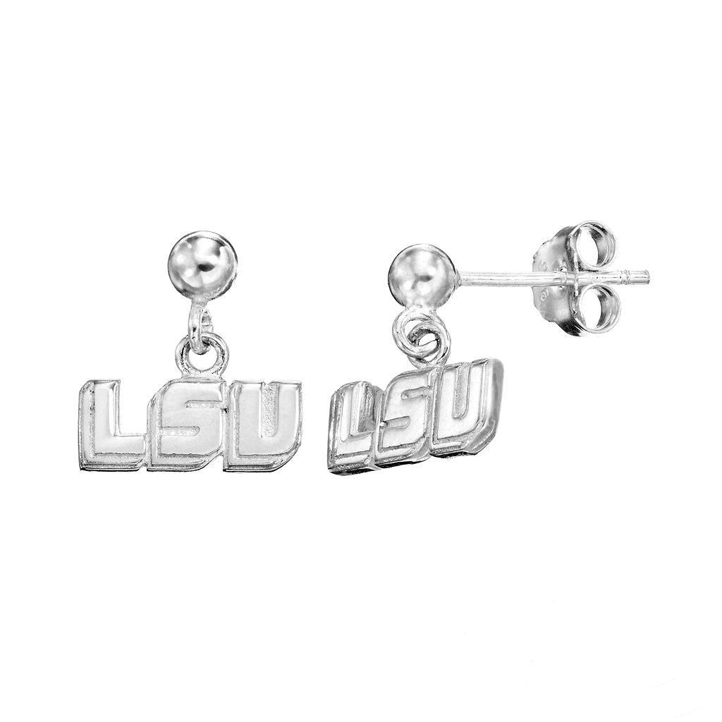 Dayna U LSU Tigers Sterling Silver Drop Earrings