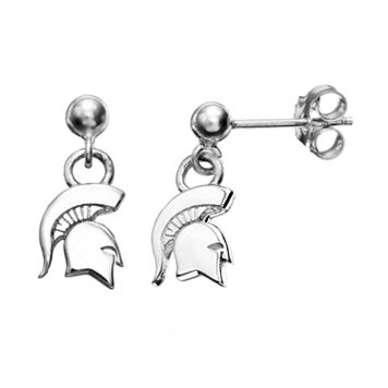 Dayna U Michigan State Spartans Sterling Silver Drop Earrings
