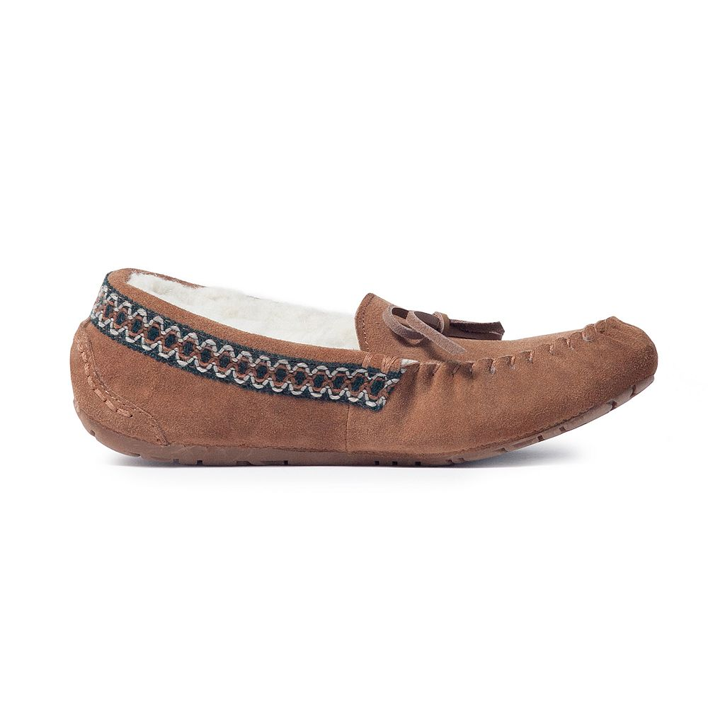 MUK LUKS Jane Women's Suede Moccasin Slippers
