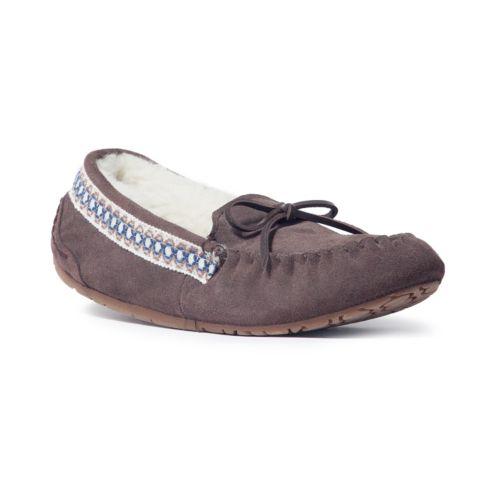 MUK LUKS Jane Women's Suede ... Moccasin Slippers