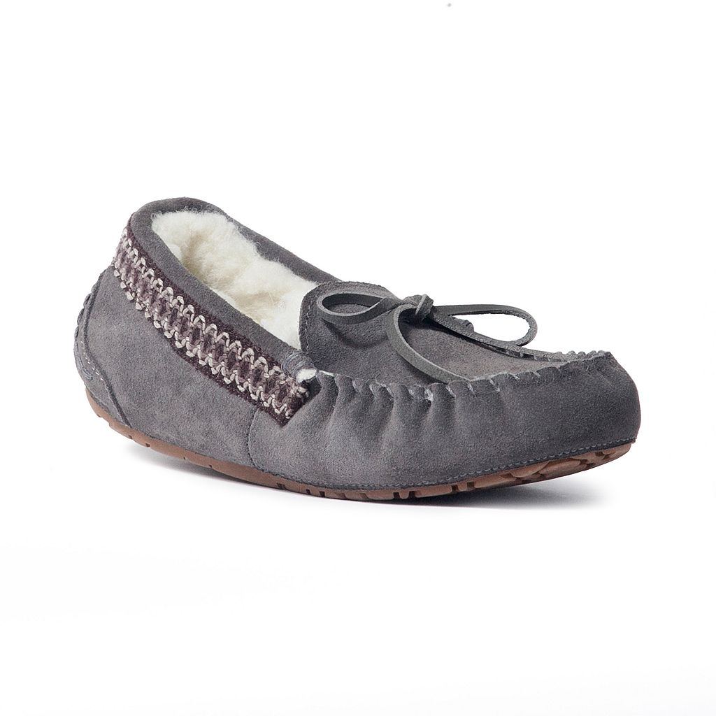 MUK LUKS Jane Women's Suede Moccasin Slippers