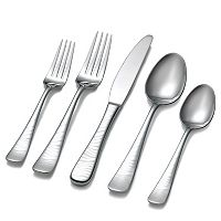 Hampton Forge Skandia Zebra Laser Etched 45-pc. Flatware Set
