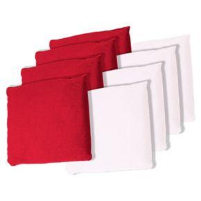 8-pk. Red & White Bean Bag Set