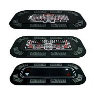3-in-1 Poker/Craps/Roulette Table Top Game