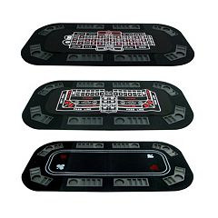 3-in-1 Poker\/Craps\/Roulette Table Top Game by