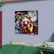 Marvel The Avengers 23'' x 23'' Canvas Wall Art