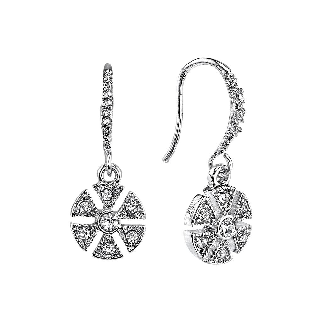 Downton Abbey® Art Deco Flower Drop Earrings