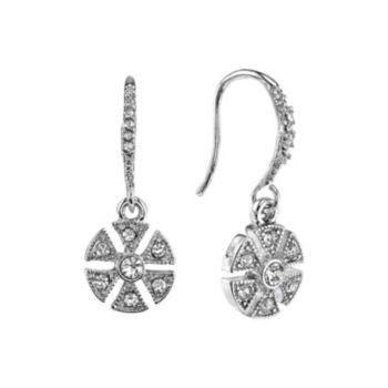 Downton Abbey Art Deco Flower Drop Earrings