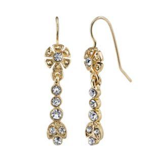 Downton Abbey Flower Linear Drop Earrings