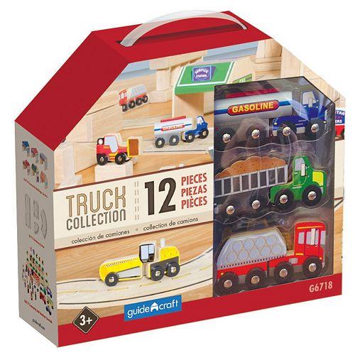 Guidecraft Wooden Truck Collection