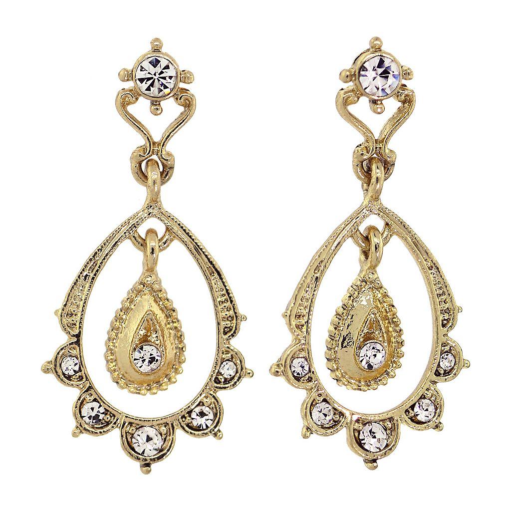 Downton Abbey® Scalloped Teardrop Earrings