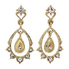 Downton Abbey® Scalloped Teardrop Earrings