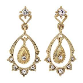 Downton Abbey Scalloped Teardrop Earrings