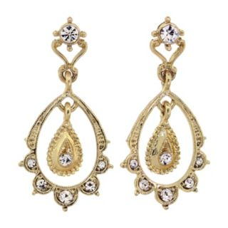Downton Abbey Scalloped Teardrop Earrings
