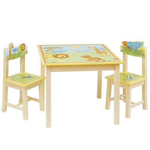Guidecraft Savanna Smiles Table & Chairs Set