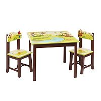 Guidecraft Jungle Party Table & Chairs Set