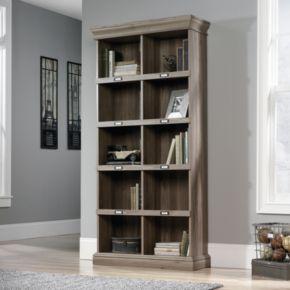 Sauder Barrister Lane Collection Salt Oak Finish 10-Shelf Tall Bookcase