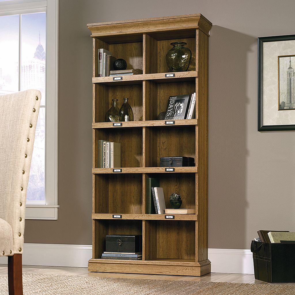 Sauder Barrister Lane Collection Oak Finish 10-Shelf Tall Bookcase