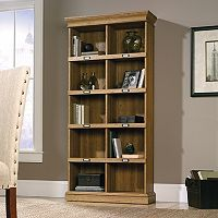Sauder Barrister Lane Collection Oak Finish 10-Shelf Tall Bookcase