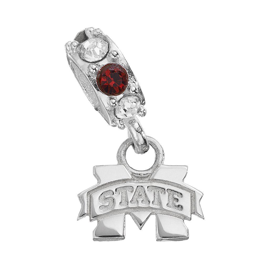 Dayna U Mississippi State Bulldogs Crystal Sterling Silver Logo Charm