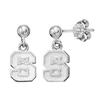 Dayna U North Carolina State Wolfpack Sterling Silver Drop Earrings