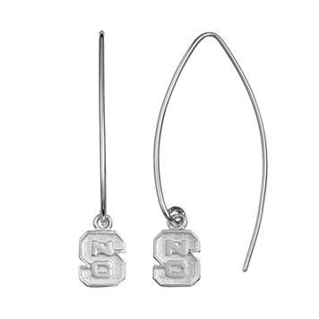 Dayna U North Carolina State Wolfpack Sterling Silver Hook Earrings