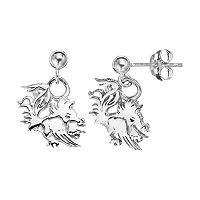 Dayna U South Carolina Gamecocks Sterling Silver Drop Earrings