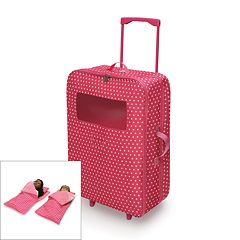 Badger Basket Double Doll Suitcase & Sleeping Bag Set
