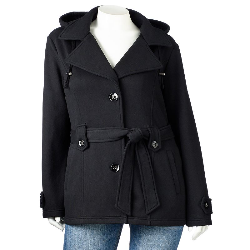 Sebby Hooded Fleece Trench Coat - Women's Plus