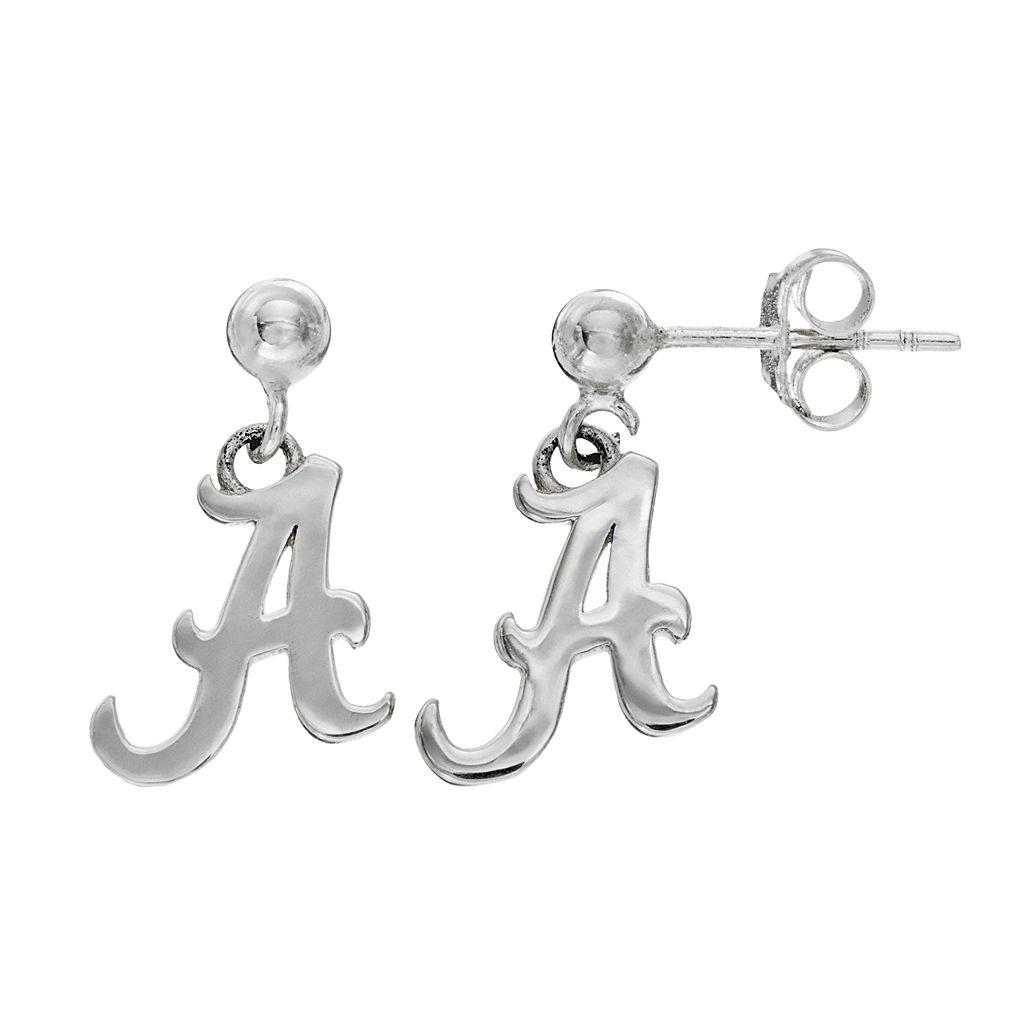 Dayna U Alabama Crimson Tide Sterling Silver Drop Earrings