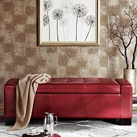 Madison Park Mirage Tufted Storage Ottoman