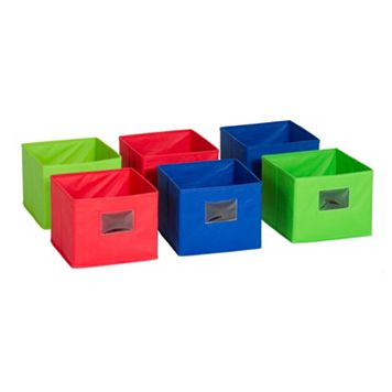 Guidecraft 6-pc. Multicolored Fabric Bin Set