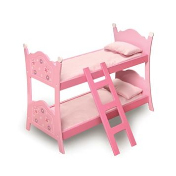 Badger Basket Blossoms & Butterflies Doll Bunk Bed with Ladder