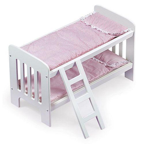 Badger Basket Doll Bunk Bed with Ladder