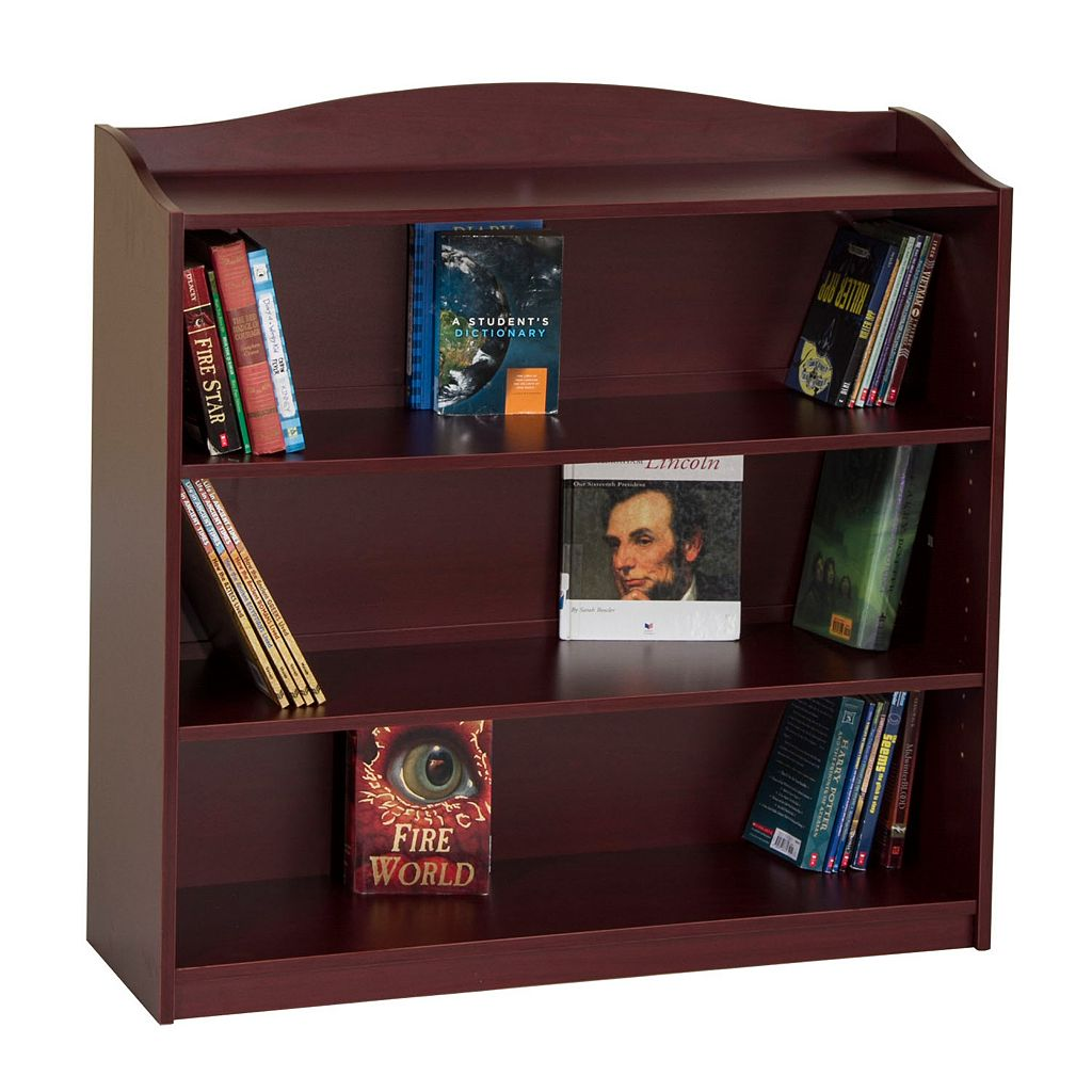 Guidecraft Cherry 4-Shelf Bookshelf