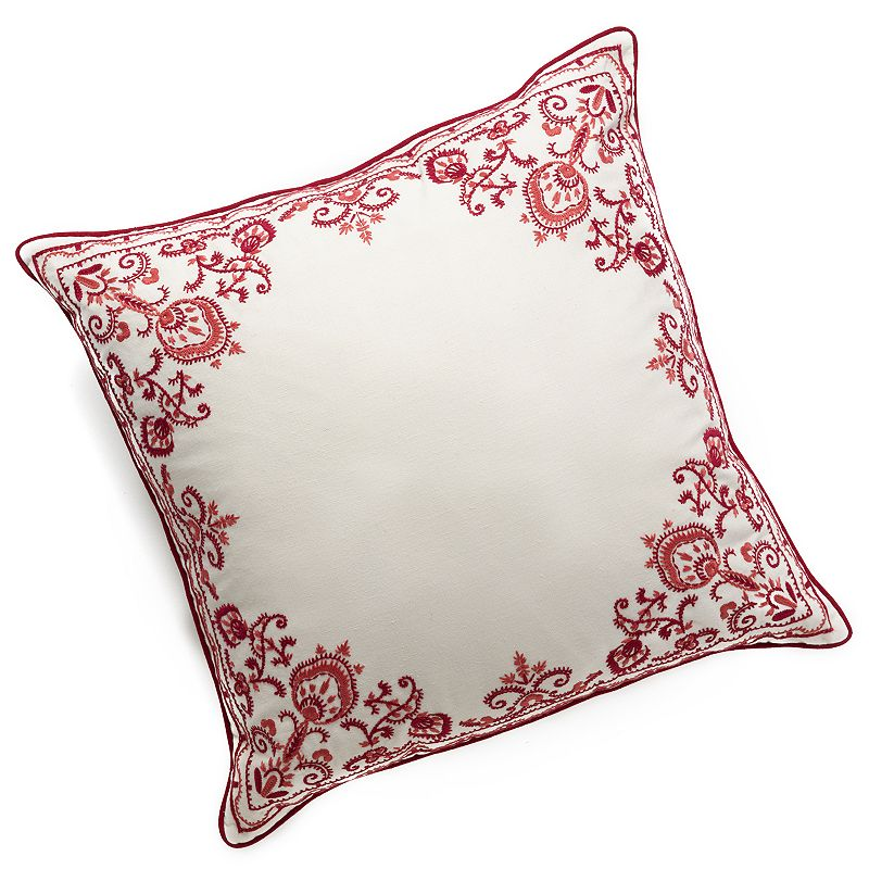Chaps Home Juliette Embroidered Border Decorative Pillow