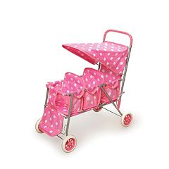 Badger Basket Triple Doll Stroller