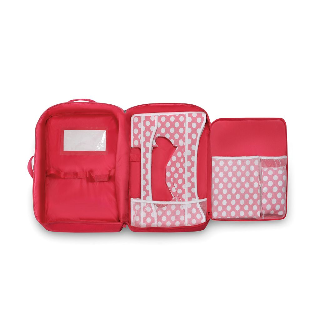 Badger Basket Double Doll Travel Case with Bunk Bed