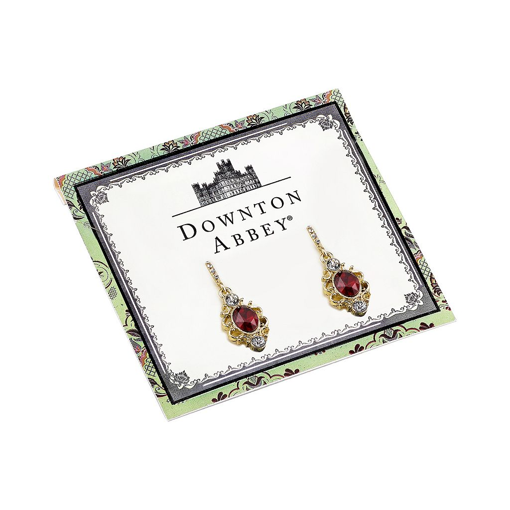 Downton Abbey Filigree Oval Drop Earrings