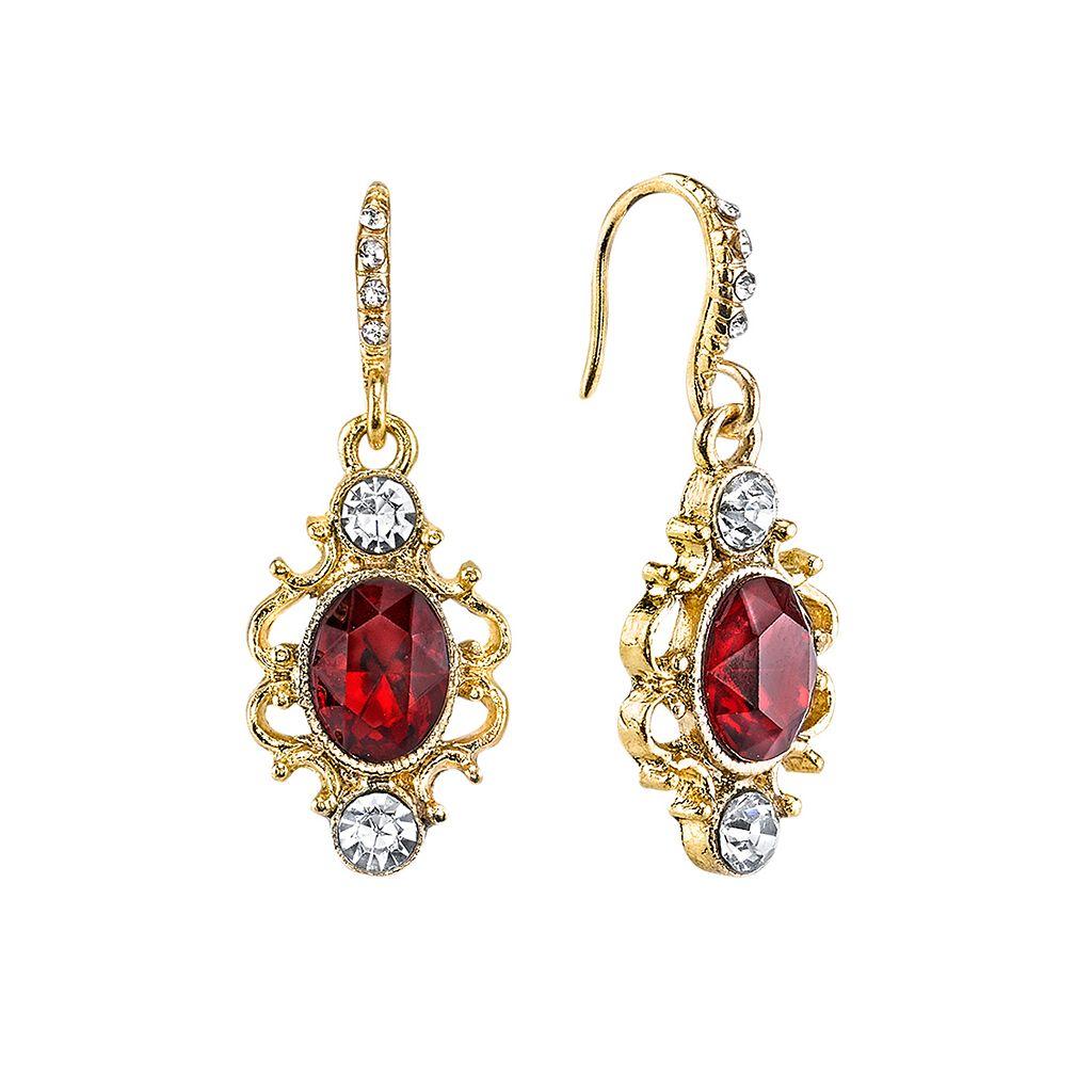 Downton Abbey® Filigree Oval Drop Earrings