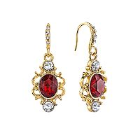 Downton Abbey® Filigree Oval Drop Earrings