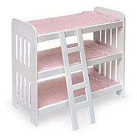 Badger Basket Triple Doll Bunk Bed