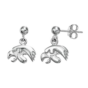 Dayna U Iowa Hawkeyes Sterling Silver Drop Earrings