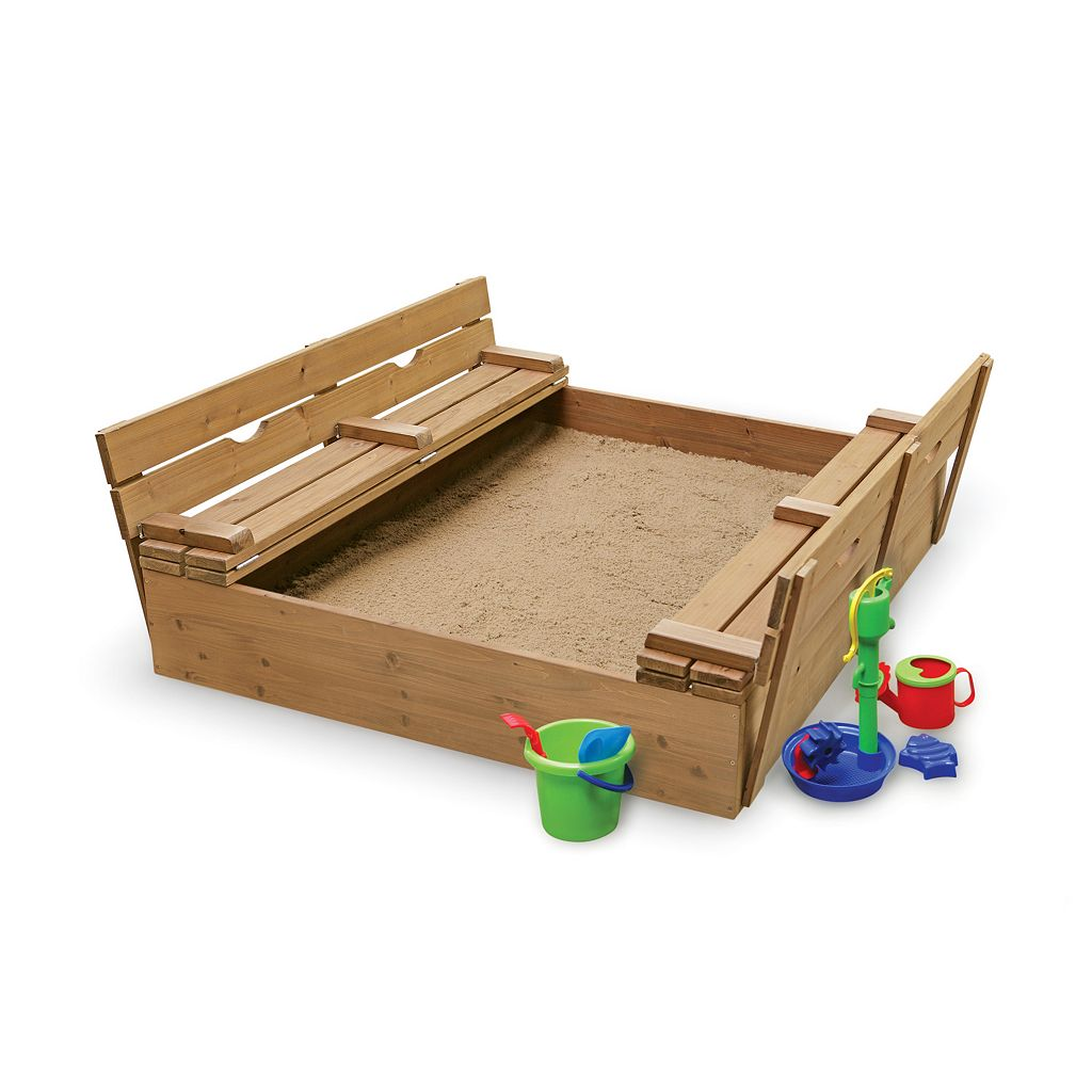 Badger Basket Covered Convertible Cedar Sandbox