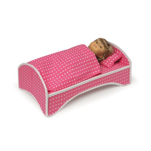 Badger Basket 2-in-1 Doll Wheeled Travel Case with Bed