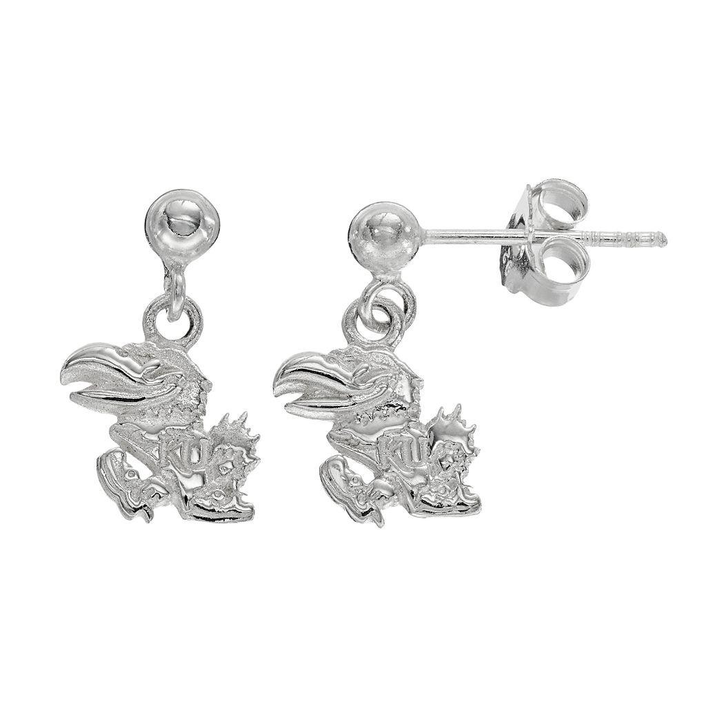 Dayna U Kansas Jayhawks Sterling Silver Drop Earrings